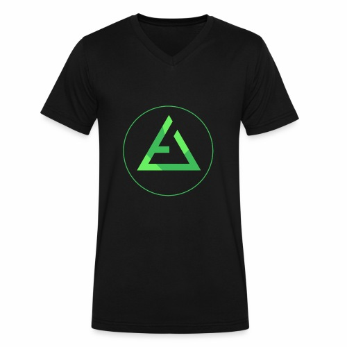 crypto logo branding - Men's V-Neck T-Shirt by Canvas