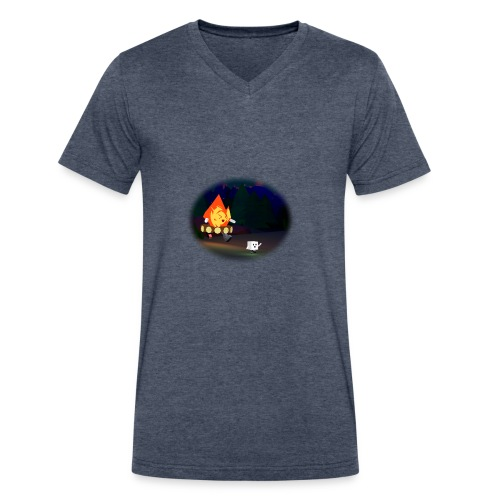 'Round the Campfire - Men's V-Neck T-Shirt by Canvas