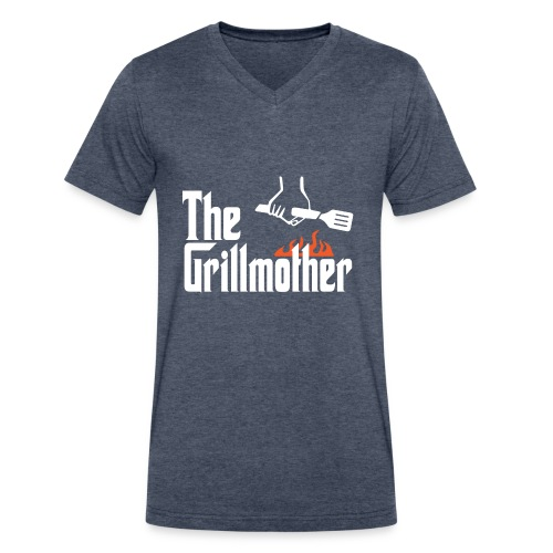 The Grillmother - Men's V-Neck T-Shirt by Canvas