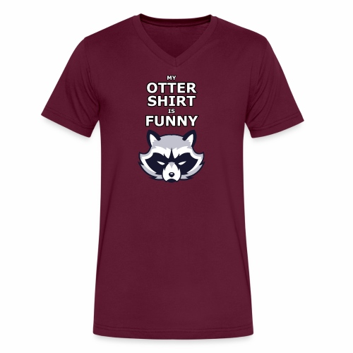 My Otter Shirt Is Funny - Men's V-Neck T-Shirt by Canvas