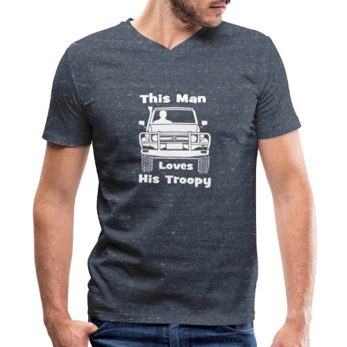 Man Troopy - Men's V-Neck T-Shirt by Canvas