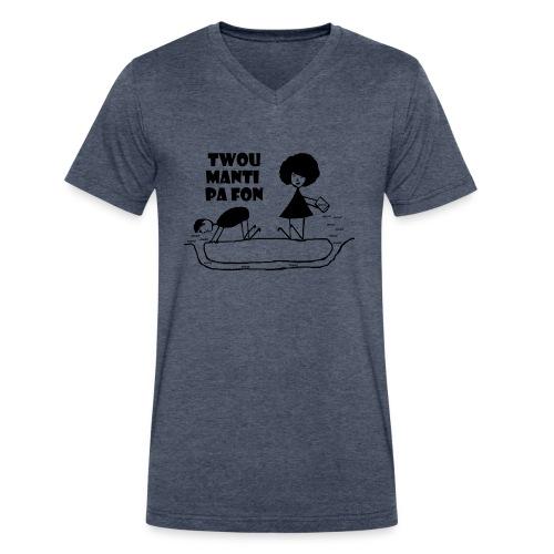 Twou_manti_pa_fon - Men's V-Neck T-Shirt by Canvas