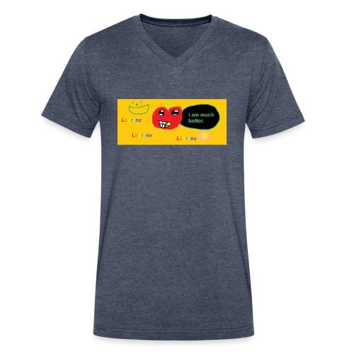 pechy vs apple - Men's V-Neck T-Shirt by Canvas