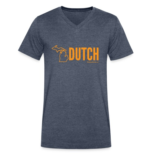 Michigan Dutch (orange) - Men's V-Neck T-Shirt by Canvas