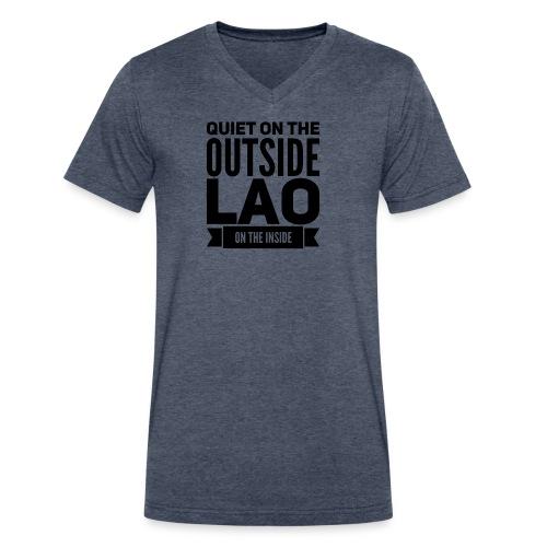 Quiet - Men's V-Neck T-Shirt by Canvas