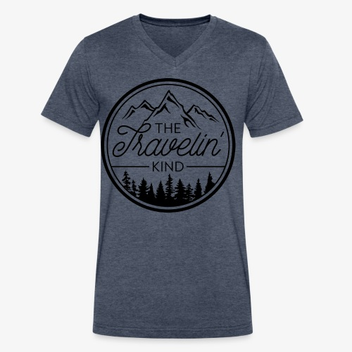 The Travelin Kind - Men's V-Neck T-Shirt by Canvas
