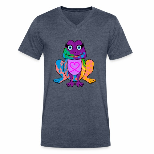 I heart froggy - Men's V-Neck T-Shirt by Canvas
