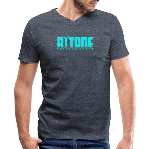 Rytone Logo Cyan - Men's V-Neck T-Shirt by Canvas