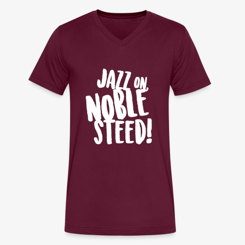 MSS Jazz on Noble Steed - Men's V-Neck T-Shirt by Canvas