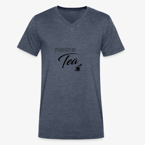 Powered by Tea - Men's V-Neck T-Shirt by Canvas
