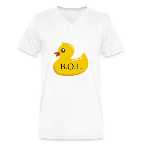 Official B.O.L. Ducky Duck Logo - Men's V-Neck T-Shirt by Canvas
