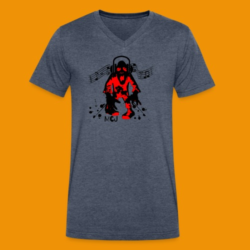 Music Zombie - Men's V-Neck T-Shirt by Canvas