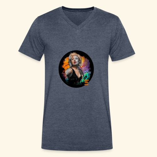 Marilyn Monroe - Men's V-Neck T-Shirt by Canvas