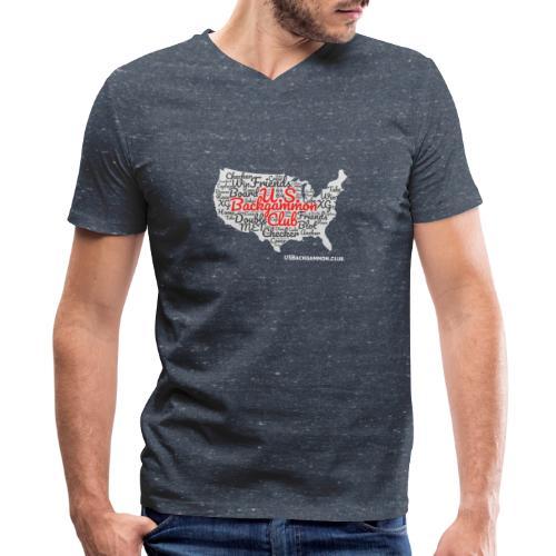 US Backgammon Club - Men's V-Neck T-Shirt by Canvas
