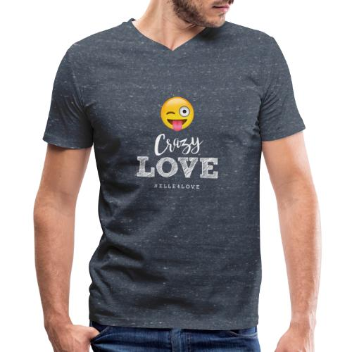 Crazy Love - Men's V-Neck T-Shirt by Canvas