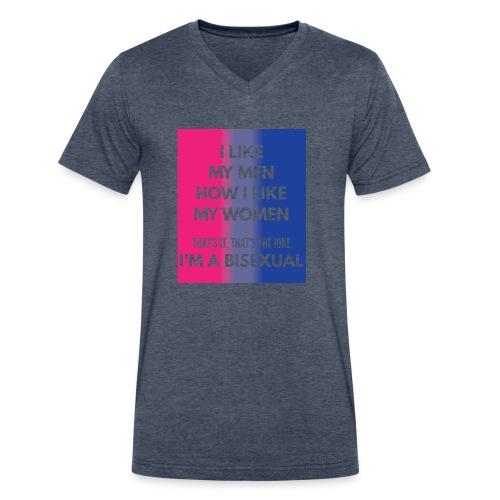 Bisexual - Bi - LGBT - Gay Pride - Gift - Men's V-Neck T-Shirt by Canvas