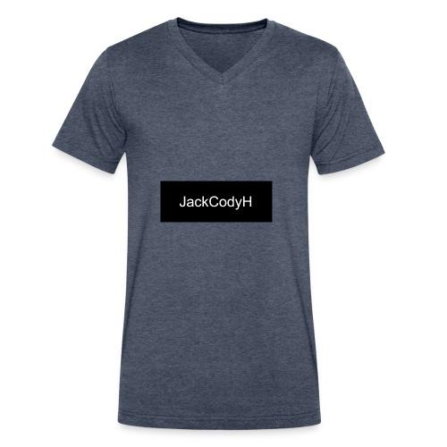JackCodyH black design - Men's V-Neck T-Shirt by Canvas