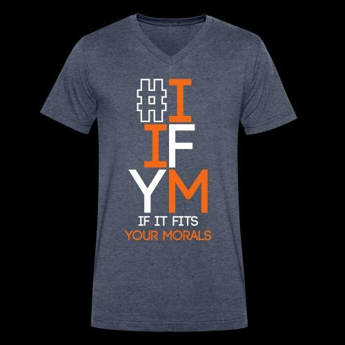 iifym - Men's V-Neck T-Shirt by Canvas