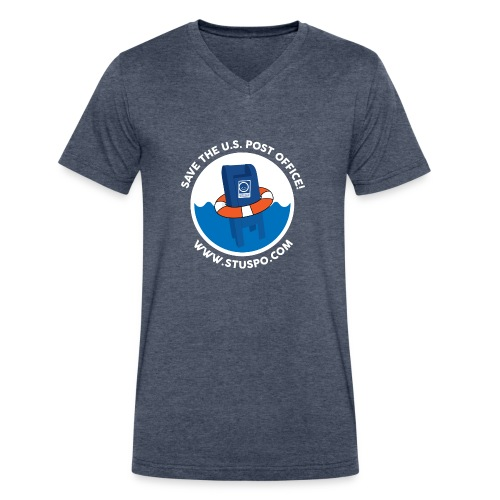 Save the U.S. Post Office - White - Men's V-Neck T-Shirt by Canvas