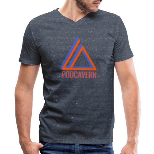 PodCavern Logo - Men's V-Neck T-Shirt by Canvas