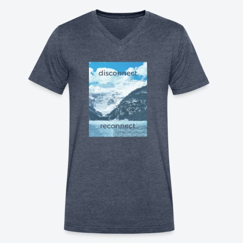 Disconnect Reconnect - Men's V-Neck T-Shirt by Canvas