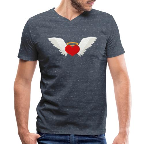 Winged heart - Angel wings - Guardian Angel - Men's V-Neck T-Shirt by Canvas