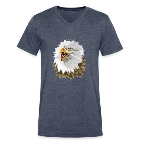 Big, Bold Eagle - Men's V-Neck T-Shirt by Canvas