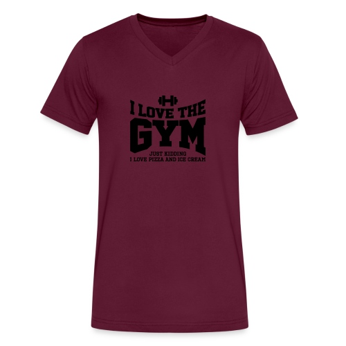 I love the gym - Men's V-Neck T-Shirt by Canvas