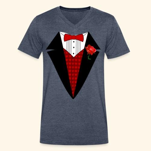 happy valentine Shirt for men - Men's V-Neck T-Shirt by Canvas