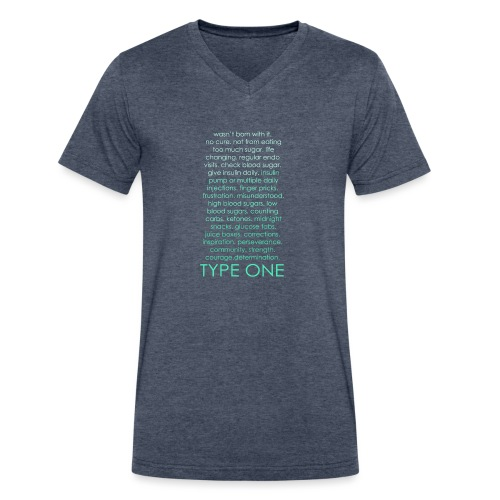The Inspire Collection - Type One - Green - Men's V-Neck T-Shirt by Canvas