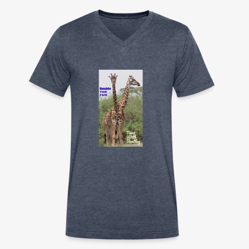 Two Headed Giraffe - Men's V-Neck T-Shirt by Canvas