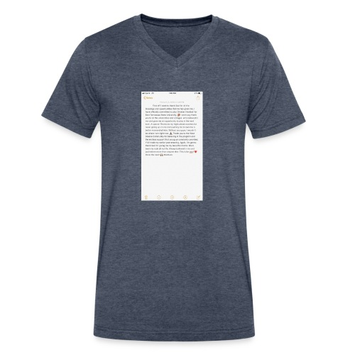 Text from a Football Commit - Men's V-Neck T-Shirt by Canvas