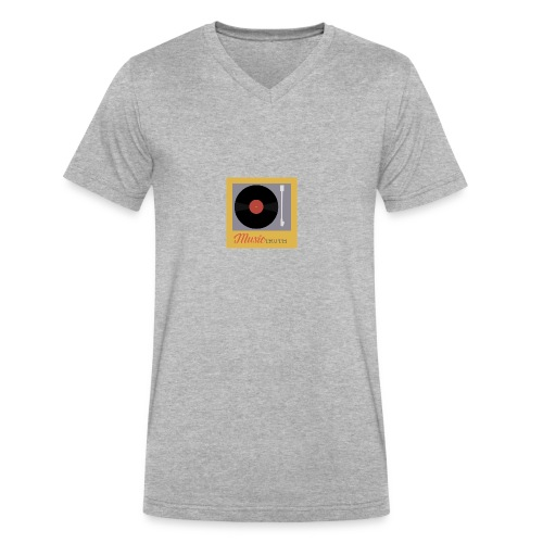 Music Truth Retro Record Label - Men's V-Neck T-Shirt by Canvas