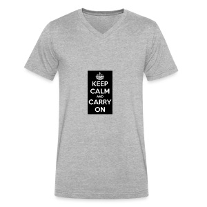 KEEP CALM AND SUB TO DIAMOND - Men's V-Neck T-Shirt by Canvas