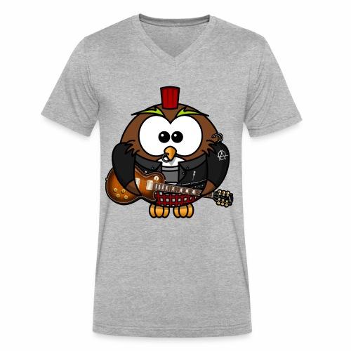 Yo I'm the rock owl! - Men's V-Neck T-Shirt by Canvas