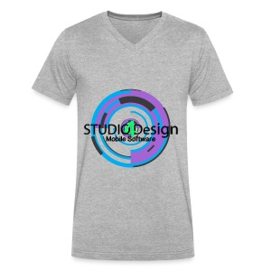 S4DLogo - Men's V-Neck T-Shirt by Canvas