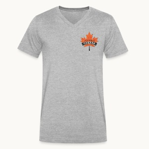 I WAS MADE IN CANADA -Linen -Carolyn Sandstrom - Men's V-Neck T-Shirt by Canvas