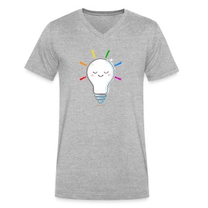 Lighten Up - Men's V-Neck T-Shirt by Canvas