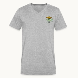 BIRDER - White-faced ibis - Carolyn Sandstrom - Men's V-Neck T-Shirt by Canvas