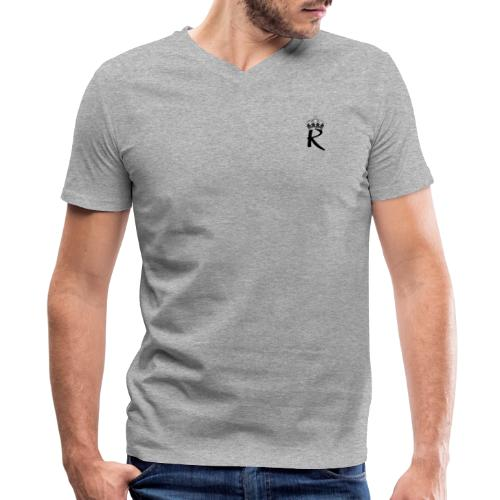 R with Crown - Men's V-Neck T-Shirt by Canvas