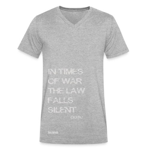 EPIC QUOTES - Cicero In Times of War .. - Men's V-Neck T-Shirt by Canvas