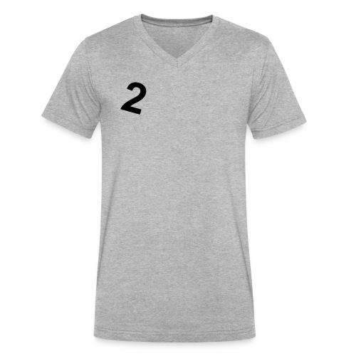 2- Simple v-neck T-shirt (gray) - Men's V-Neck T-Shirt by Canvas