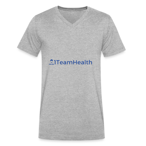 1TeamHealth Simple - Men's V-Neck T-Shirt by Canvas