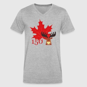 Canada 150 - Moose - Men's V-Neck T-Shirt by Canvas