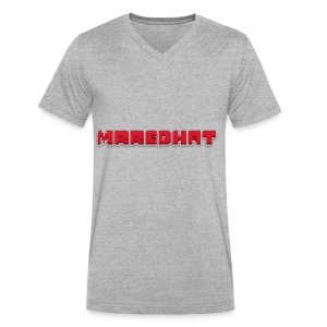 MrRedHat Plain Logo - Men's V-Neck T-Shirt by Canvas