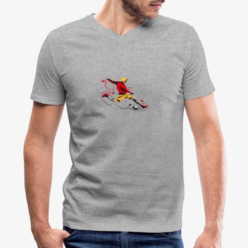 Soccer shirt design - Men's V-Neck T-Shirt by Canvas
