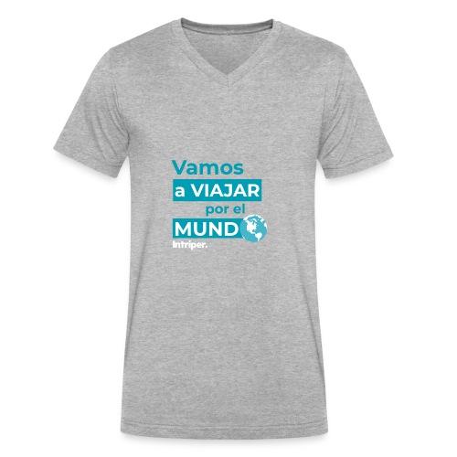 Vamos a viajar por el mundo - Men's V-Neck T-Shirt by Canvas
