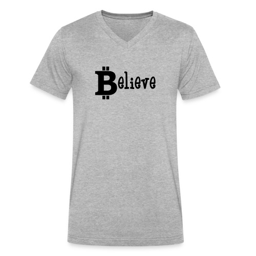 Believe - Men's V-Neck T-Shirt by Canvas