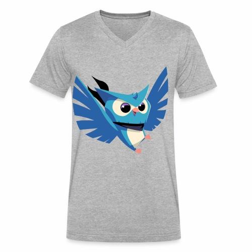 Hello I'm the ninja owl - Men's V-Neck T-Shirt by Canvas