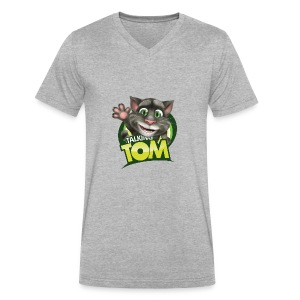 Talking_TOM_wave_preview_lowRes - Men's V-Neck T-Shirt by Canvas